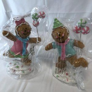 "Set of (2) 7"" Playing Gingerbread Figures"